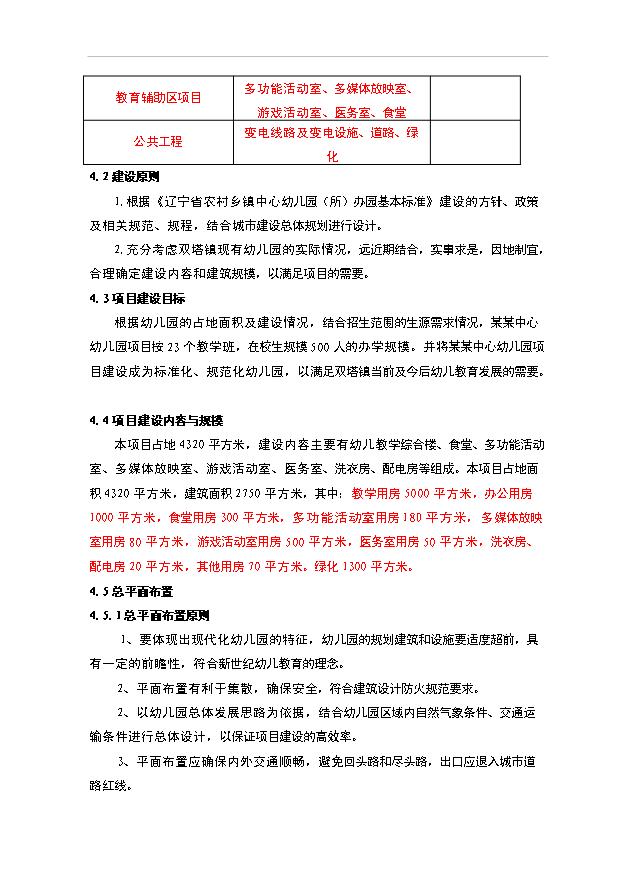 (定稿)内乡县星博幼儿园项目投资方案计划书(最终定稿)