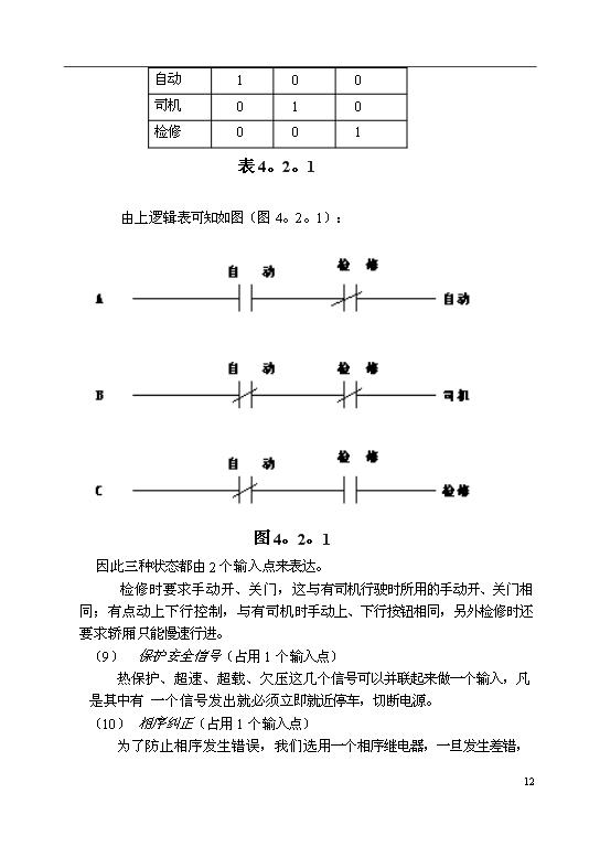 交流双速电梯plc控制系统设计(最终版)