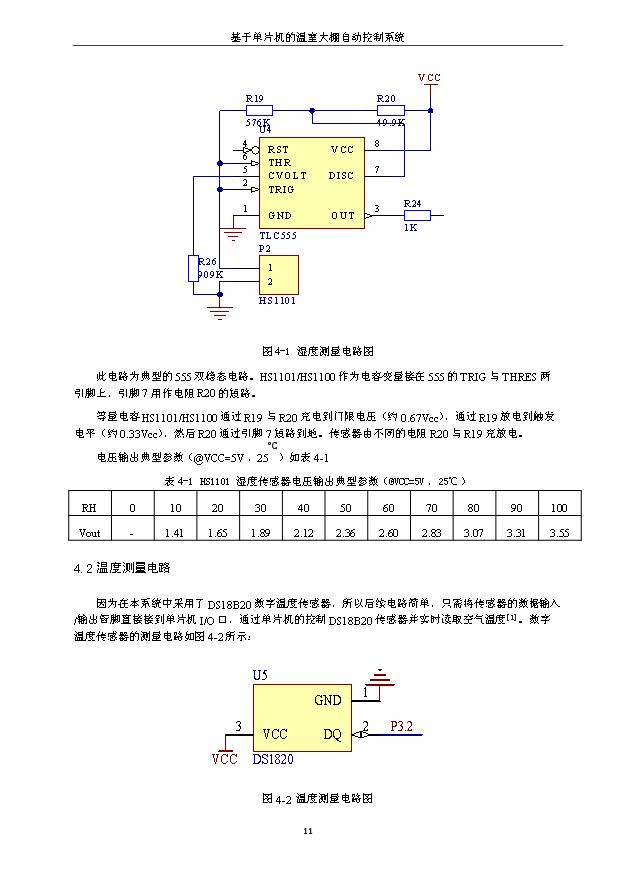硬件系统的原理方框图如图:温室大棚温度传感器湿度传感器光照度