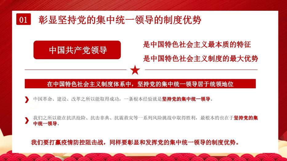 疫情大考中彰显中国特色社会主义制度优势PPT课件22页精版