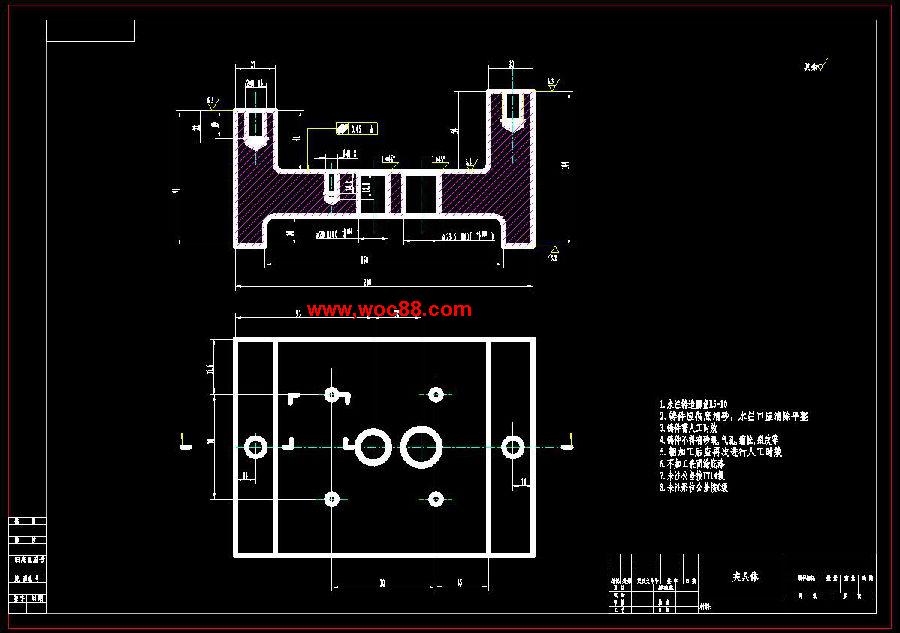 《液壓泵蓋加工工藝和鉆311孔夾具設計.rar》由會員分享,可在線閱讀全文,更多相關《【畢設全套】液壓泵蓋加工工藝和鉆311孔夾具設計【完整圖紙】》請在www.woc88.com上搜索。  1、,精加工mm,)鏜孔生產規模的大小、工藝水平的高低以及解決各種工藝問題的方法和手段都要通過機械加工工藝來體現。專用夾具設計為了提高勞動。 2、時,需要設計專用夾具。根據任務要求中的設計內容,需要設計加工銑上平面夾具,泵蓋上頂面鏜孔夾具。bs采用XW銑床,硬質合金端銑刀YG對銑上。 3、則,先加工上、下兩平面,然