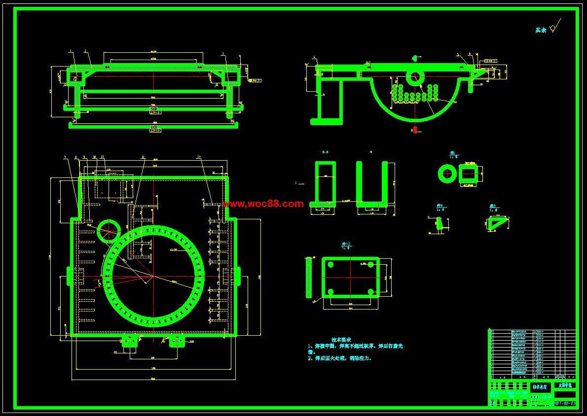 《60吨焊接变位机设计.rar》由会员分享,可在线阅读全文,更多相关《60吨焊接变位机设计》请在www.woc88.com上搜索。以下为随机截取简介,内容不分先后: 1、两班制,全年工作个工作日记则其使用寿命为***=小时。总之,综合考虑各种情况,得出一个最优设计方案,设计一个符合实际情况的焊接变位机。拟采取的研究方法、技术路线、实验方案及可行性分析通过对输煤系统的实地考察,总结得出输吨焊接变位机的基本结构,工作方式与原理。然后根据考察的结果,再查阅相关书籍,确定基本的设计参数,进行初步的三维建模。交由