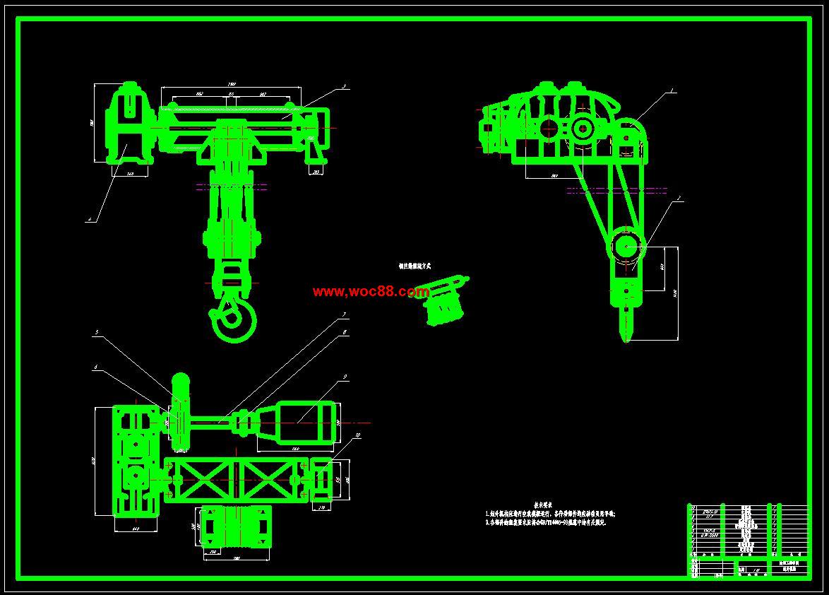 【cad设计图纸】5010t双梁桥式起重机小车主起升机构设计【全套终稿】