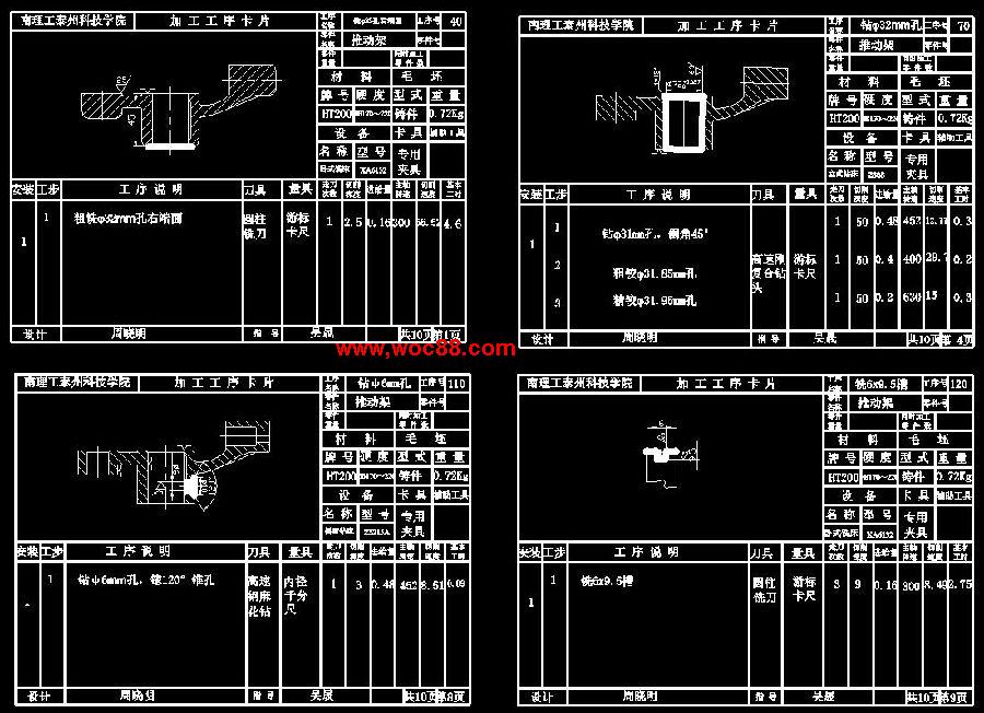 (图纸 论文)b6065刨床推动架工艺规程及夹具设计(全套完整)