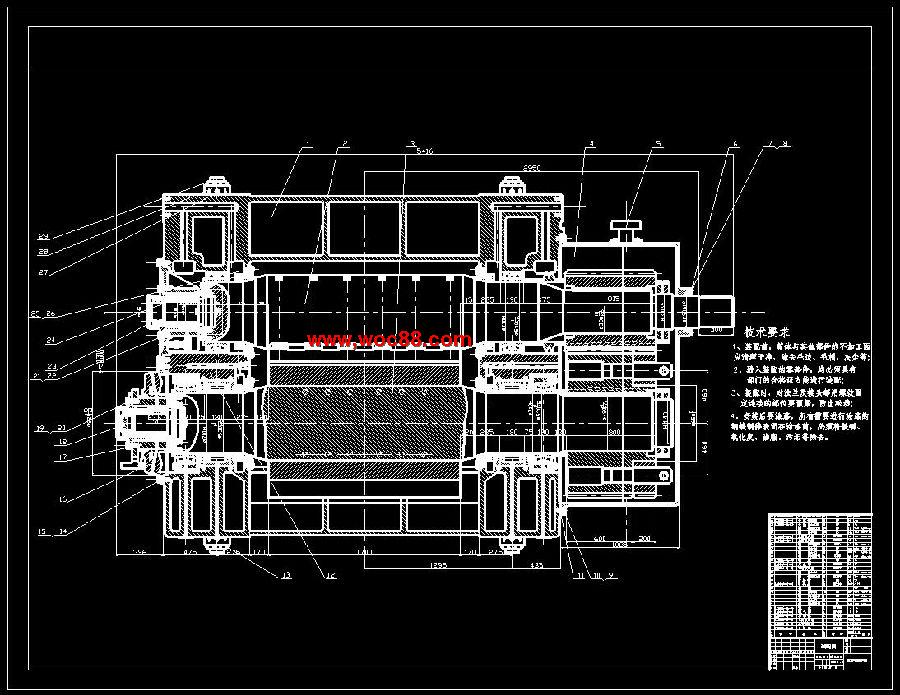 《冲压式芡实剥壳机设计.rar》由会员分享,可在线阅读全文,更多相关《(全套dwg图纸)冲压式芡实剥壳机设计(含毕业论文)》请在www.woc88.com上搜索。 1、传动比低速级传动比减速机齿轮设计选定齿轮类型、精度等级、材料及齿数()按所设计的传动方案,选用斜齿圆柱齿轮传动。()选用级精度(GB)。()材料选择:小齿轮材料选用CrNiMo。 2、曲疲劳安全系数S=得:()许用接触应力()()计算计算小齿轮分度圆直径,由计算公式得:计算圆周速度()计算齿宽b及模数()()()计算纵向重合度()计算载荷系