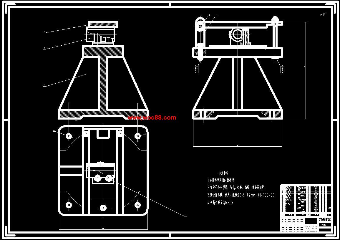内容详情: 内容简介:(定稿)轴承座30孔镗削专机及夹具设计(CAD图纸+毕业论文)轴承座30孔镗削专机及夹具设计摘要:560=1632.65(N)Ff-导轨摩擦阻力负载,启动时为静摩擦阻力,启动后为动摩擦阻力 Ff=fG 在本设计中取静摩擦系数为0.18,动摩擦系数为0.1Ffs=0.18&#2154000=720(N) Ffa=0.