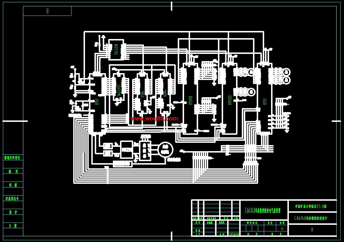 《CA6140普通车床数控改造设计.rar》由会员分享,可在线阅读全文,更多相关《(全套设计)CA6140普通车床数控改造设计(CAD图纸)》请在www.woc88.com上搜索。 1、图形的新偏差,作为下一步偏差判别的依据。()终点判别根据这一步的进给结果,判定(比较)终点是否到达。如未到达终点,继续插补工作循环,如果已到终点就停止插补。.逐点比较法I象限直线插补()基本原理偏差函数值的判别如图..所示,OE为象限直线,起点O为坐标原点,终点E的坐标为E(Xe,Ye),还有一个动点为N(Xi,Yi)。