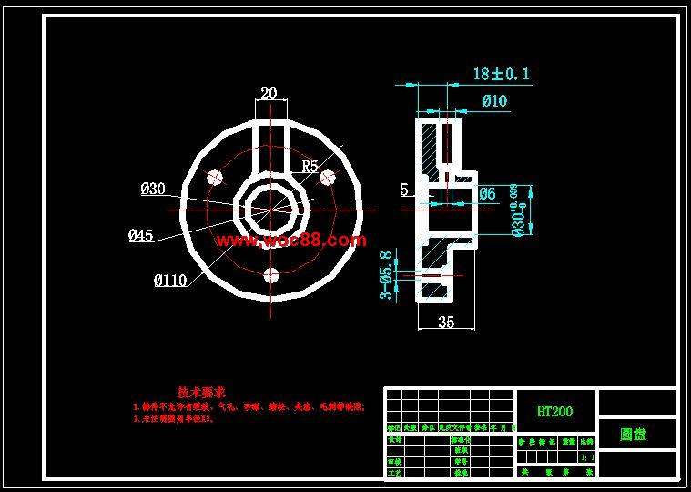(图纸 论文)圆盘零件加工工艺及夹具设计(全套完整)
