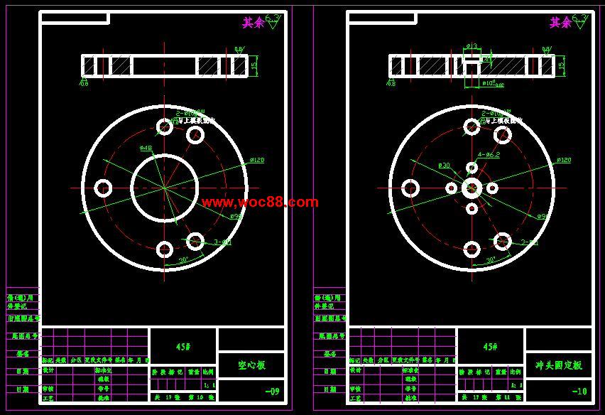【资源下载】【CADv齿形齿形】垫圈图纸冲孔cad层块图图片
