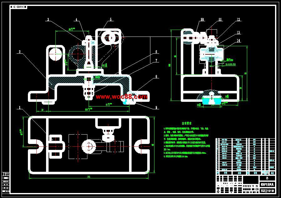 【全套autocad图纸】铣气门摇臂轴支座Φ18孔两端面的铣床夹具设计