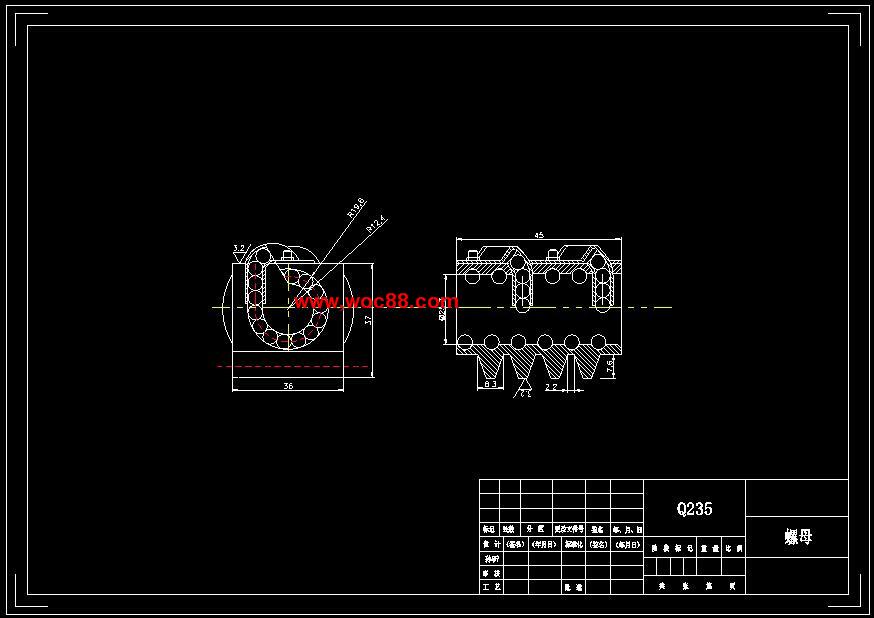 (毕业设计图纸全套)汽车循环球式转向器设计(含说明书)cad截图05