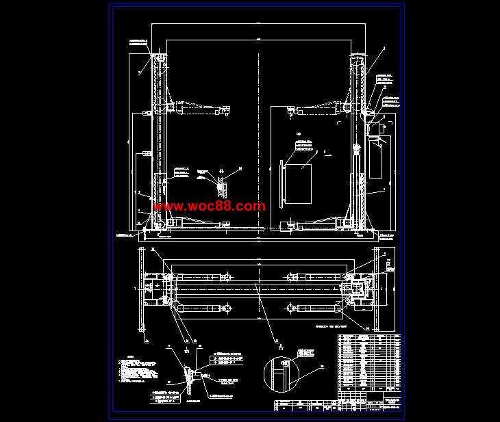 【图纸论文】普通式双柱汽车举升机的结构设计【cad图纸整套】