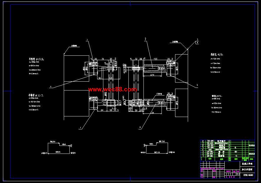 【图纸下载】双孔支架镗铰组合机床刚性镗削头及主轴箱设计【毕业设计