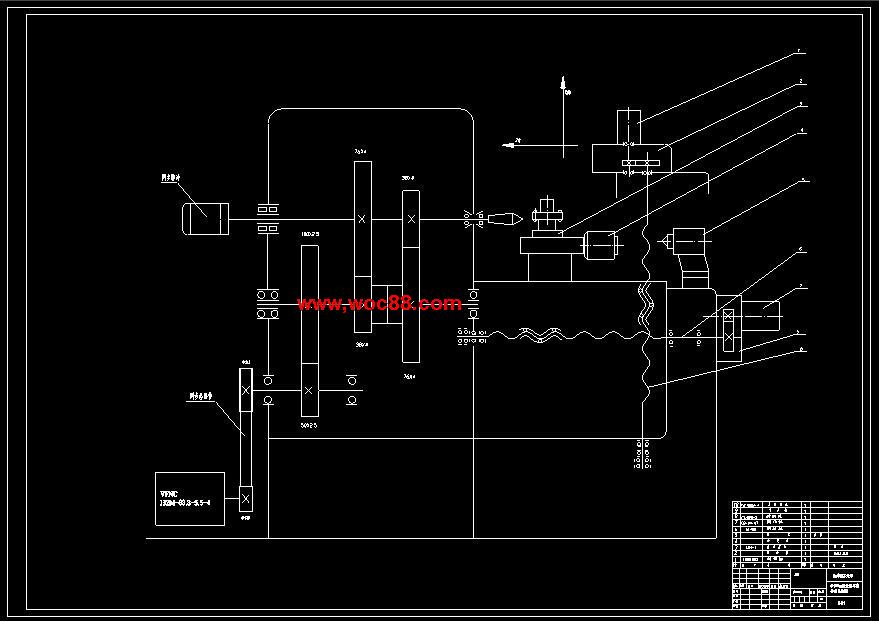 Φ550mm的数控车床机床硬件电路图