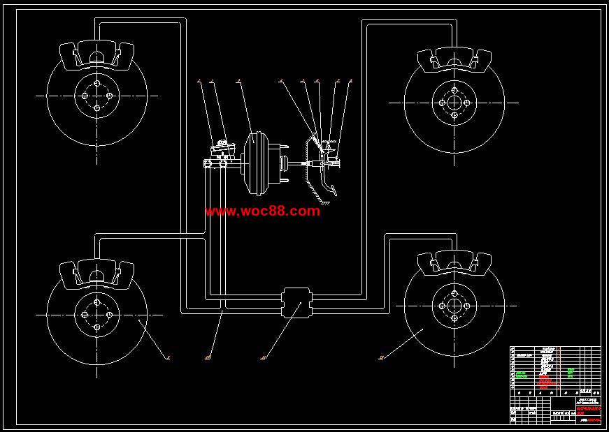 《伊兰特汽车制动系统设计.rar》由会员分享,可在线阅读全文,更多相关《(全套dwg图纸)伊兰特汽车制动系统设计(含毕业论文)》请在www.woc88.com上搜索。 1、过推杆和主缸活塞,使主缸内的油液在一定压力下流入轮缸,并通过两个轮缸活塞推动两制动蹄绕支撑销转动,上端向两边分开而其摩擦片压紧在制动鼓的内圆面上。这样,不旋转的制动蹄就对旋转的制动鼓作用一个摩擦力矩,其方向与车轮旋转方向相反。制动鼓将该力矩传到车轮后,由于车轮与路面间。 2、经过对不同制动器优、缺点的比较,参考同类车型,本设计前后轮均采