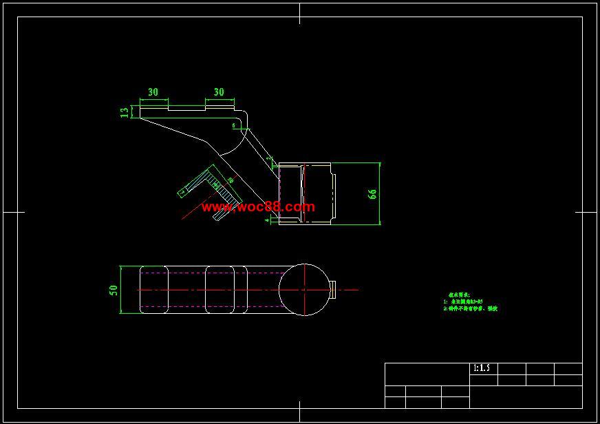 (托盘)模版输送机v托盘(有CAD定稿的哟)(图纸2的网上买cad证图片