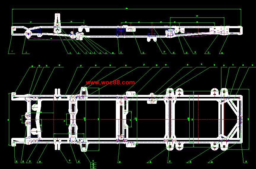 【cad设计图纸】低速载货汽车车架及悬架系统设计【全套终稿】