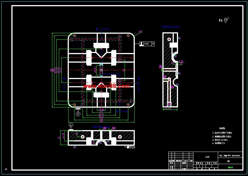 (定稿)侧抽芯液压管路三通管接头注塑模具设计(有cad图纸的哟)图片