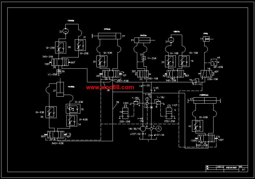 (定稿)五自由度液压机械手及plc控制系统设计(cad图纸 毕业论文)