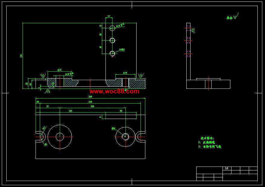 (图纸)定稿输送机设计(有CAD模版的哟)(托盘2软包吸音防撞cad图片