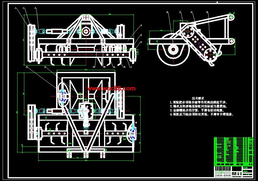 《稻田筑埂机的总体设计.rar》由会员分享,可在线阅读全文,更多相关《稻田筑埂机的总体设计》请在www.woc88.com上搜索。  1、架上的。机架上焊接有牵引架。筑埂机是通过牵引架与拖拉机三点悬挂连接。拖拉机向前行驶,筑埂机前头的旋耕集土装置首先入土翻耕,将土推向机架中间,进入后面的推压筑埂装置的筑埂范围将大量的土培植成土埂。推压筑埂装置跟着转动,对土埂进行成型压实。一次进地,就可以实现筑埂的作业,筑出的田埂结实规整,满足各项农艺要求。绪论选题的意义设计课题为稻田筑埂机的总体设计,来源于生产实际。本设