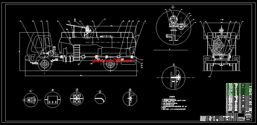 终稿hgc5120xfg消防车改装设计含整套cad图纸图片