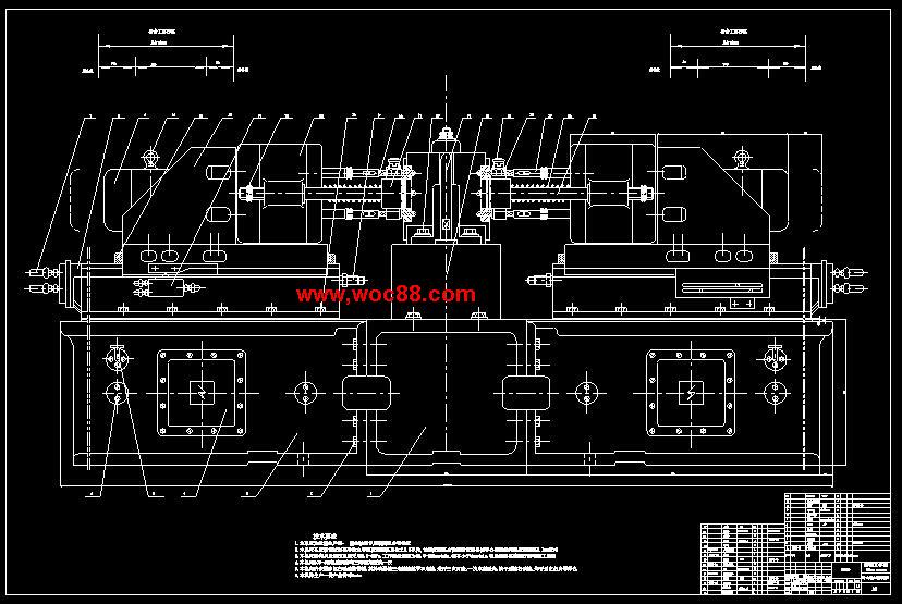 【终稿】ckⅡ型车床主轴箱加工6~Ф17孔两面卧式组合钻床设计【有cad