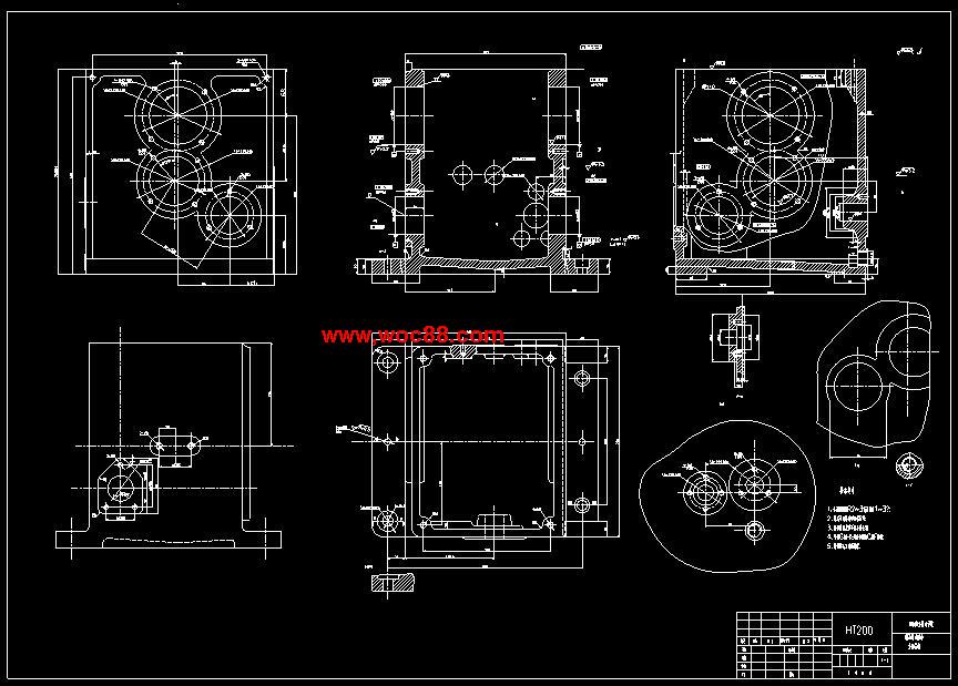 (定稿)燃油泵实验台主轴箱体工艺及夹具设计(cad图纸 毕业论文)