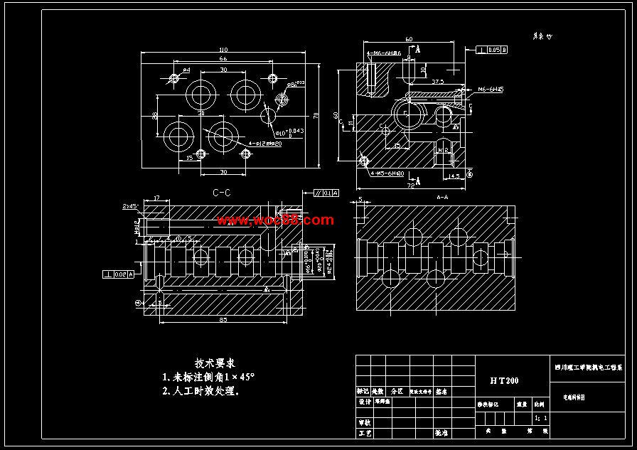 电磁阀体中心孔组合机床,机床总体工位布置和钻,扩,铰工位液压系统图片