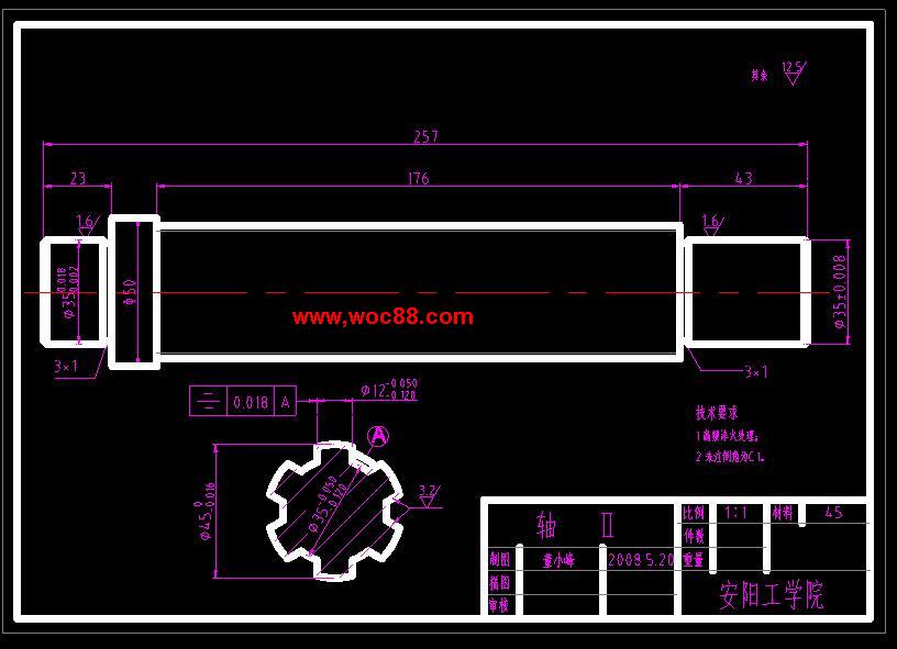 《数控管螺纹车床主轴箱传动设计.rar》由会员分享,可在线阅读全文,更多相关《【毕设全套】数控管螺纹车床主轴箱传动设计【完整图纸】》请在www.woc88.com上搜索。  1、了机械内联系传动链,脉冲发生器发出的脉冲被送到脉冲处理器,并经过由数控系统传来的数控编程指令相应的处理,最后到达控制纵向和横向运动的伺服电动机,这样就可以加工出各种复杂形状的轴类零件但要加工螺纹,还要在加工过程中不乱扣,引进一个脉冲相位。 2、参数mmin提高到mmin、mmin、mmin、mmin在提高速度的同时要求提高运动部件