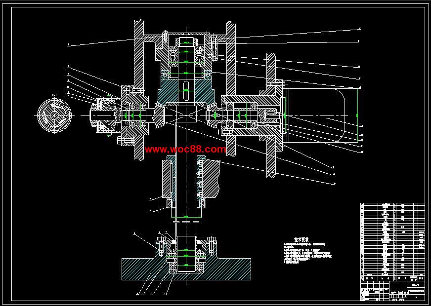 (全套设计)xk6130铣床数控总体设计及垂直进给伺服系统设计(cad图纸)c