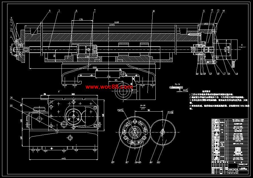 【终稿】xk5036数控立式铣床总体及纵向进给传动机构设计【cad图纸