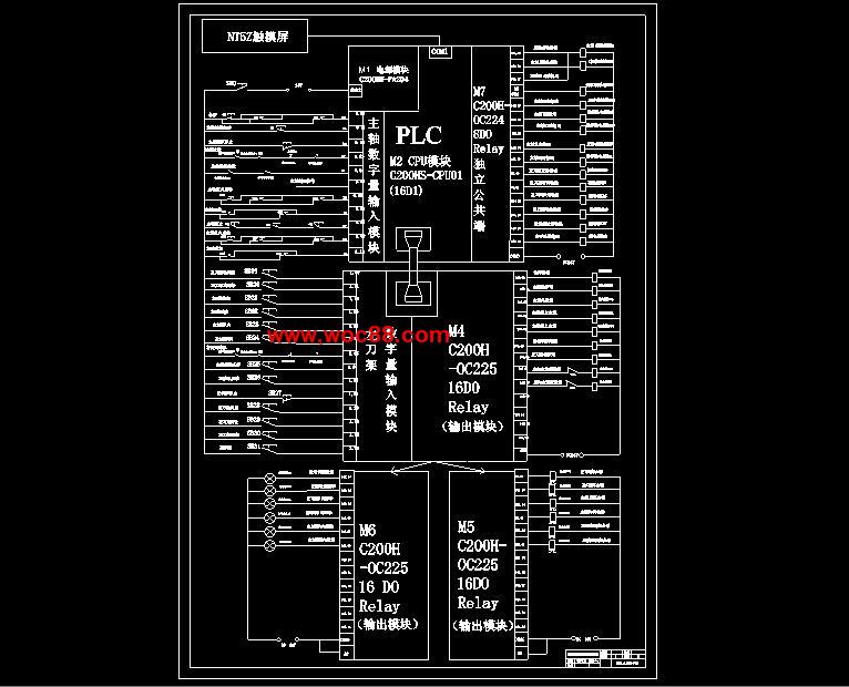 dwg轧辊车床plc触摸屏控制系统设计正文.doc摘要1.doc主电路图.