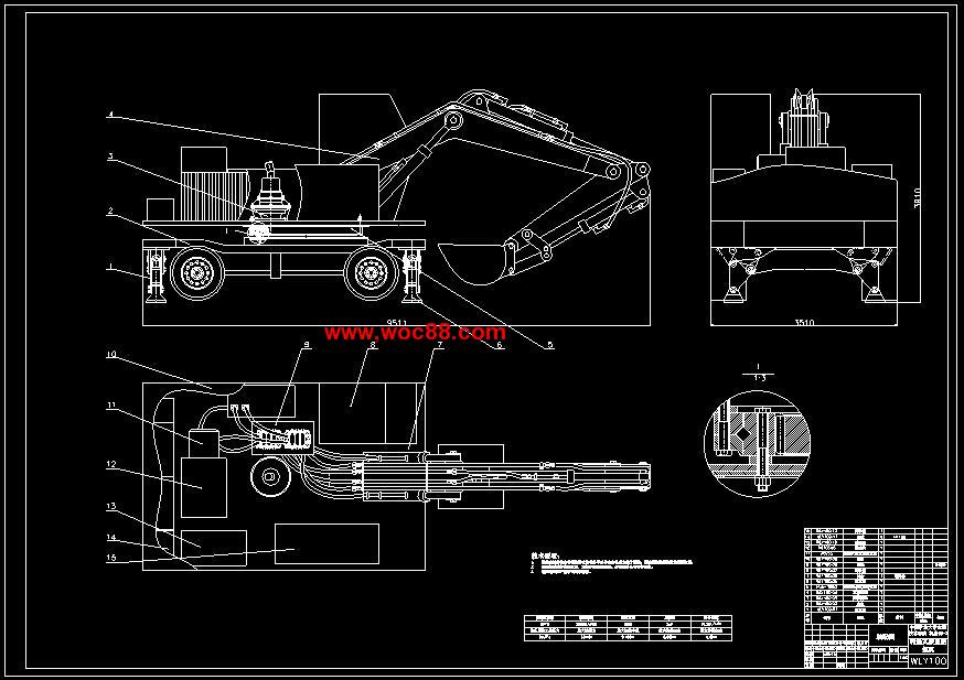 《单斗液压挖掘机设计.rar》由会员分享,可在线阅读全文,更多相关《【图纸论文】单斗液压挖掘机设计【CAD图纸整套】》请在www.woc88.com上搜索。以下为随机截取简介,内容不分先后: 1、快)液压挖掘机迅速发展液压挖掘机由于使用性能,技术指标和经济指标上的优越,六十年代即开始蓬勃发展,六十年代末世界各国液压挖掘机产量与挖掘机总产量之比平均值已达到时%以上)普遍重视产品的标准化、系列化。 2、个动作。动臂的下铰点与回转平台铰接并以动臂液压缸来支承和改变动臂的倾角通过动臂液压缸的伸缩可使动臂绕下铰点
