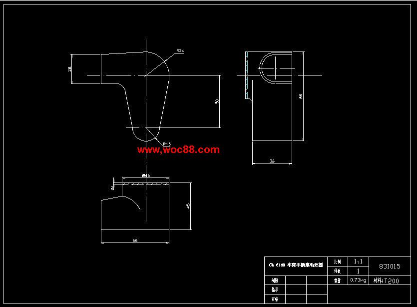(毕业设计全套)ca6140车床手柄座831015钻φ25孔夹具设计(打包下载)