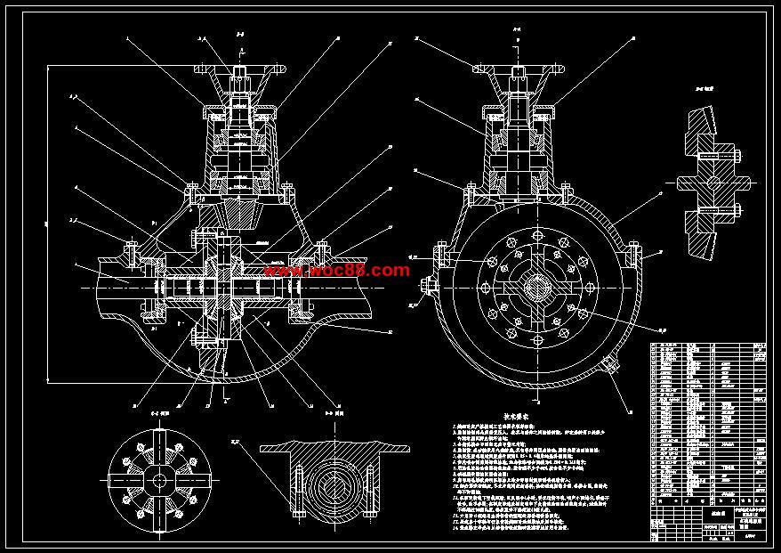(终稿)基于autocad汽车驱动桥结构设计(cad图纸全套完整)