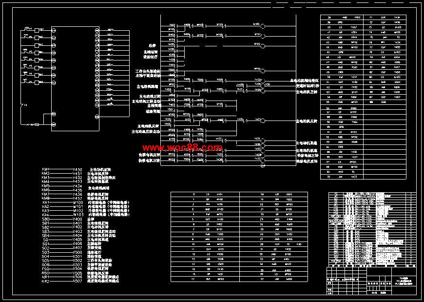 t68镗床的控制系统的改造设计cad截图02