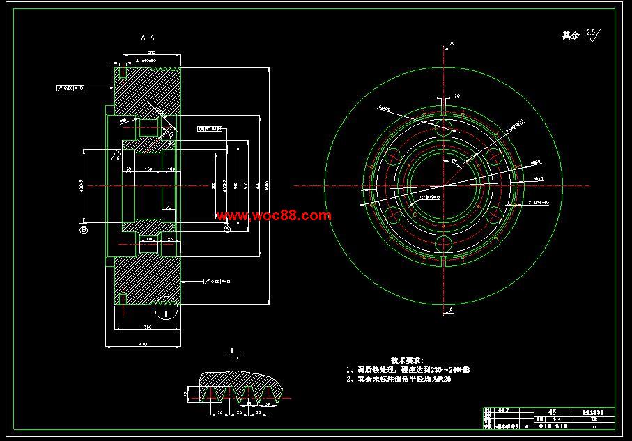 (独家原创)JH31-63机械压力机的设计(全套CAD图纸完整版)CAD截图04