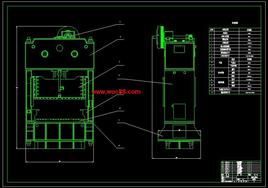 (独家原创)JH31-63机械压力机的设计(全套CAD图纸完整版)CAD截图01