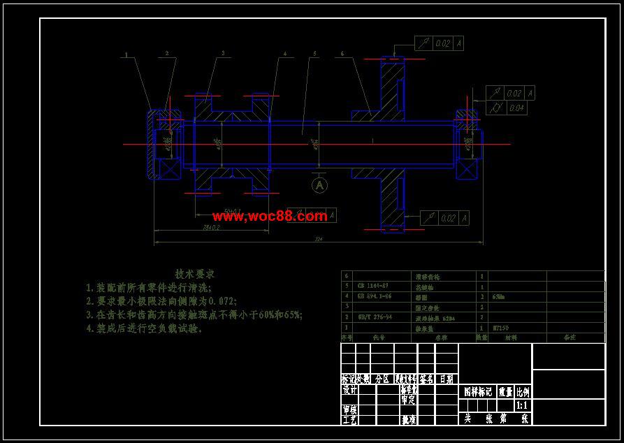 (独家原创)CA6140车床主轴箱的设计(全套CAD图纸完整版)CAD截图02