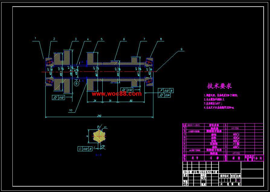 (独家原创)CA6140车床主轴箱的设计(全套CAD图纸完整版)CAD截图04