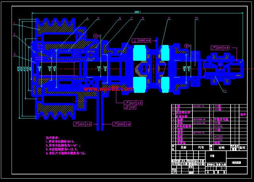 (独家原创)CA6140车床主轴箱的设计(全套CAD图纸完整版)CAD截图03