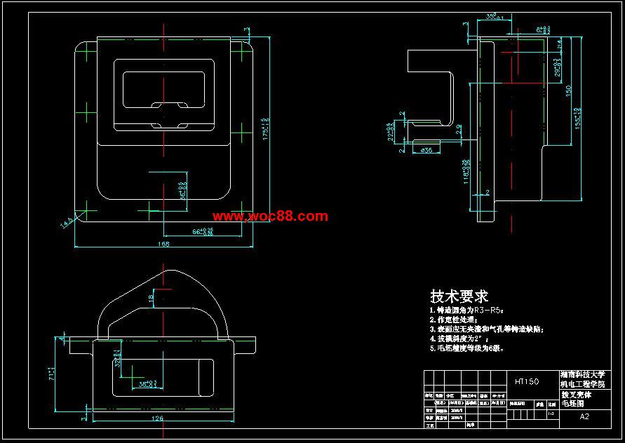 (独家原创)X5020B立式升降台铣床拔叉壳体工艺规程制订设计(全套CAD图纸完整版)CAD截图02