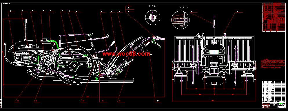 (独家原创)插秧机及其侧离合器手柄的探讨和改善设计(全套CAD图纸完整版)CAD截图01