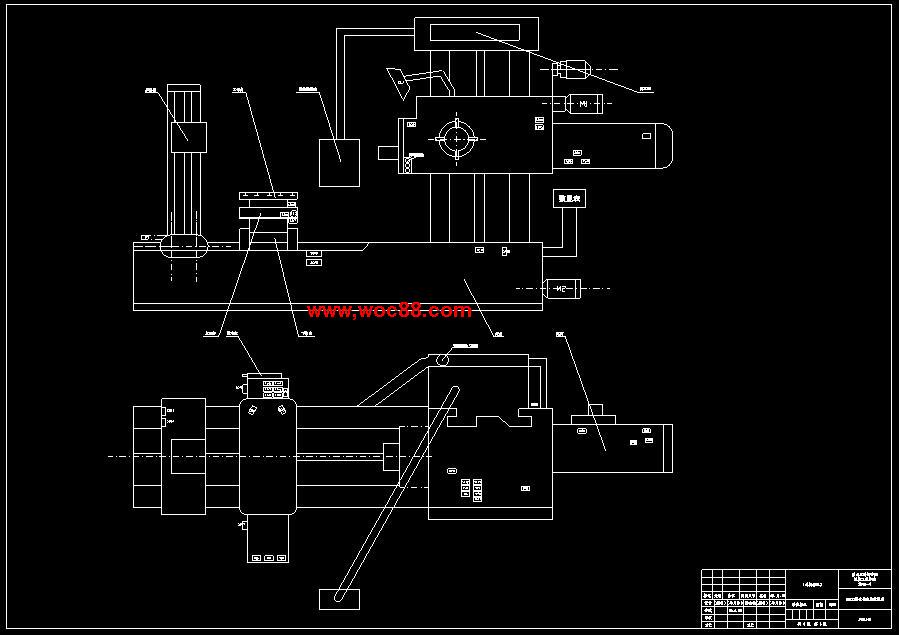 (独家原创)T6113镗床电气控制系统的设计(全套CAD图纸完整版)CAD截图02