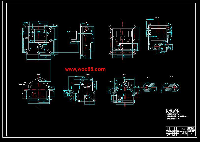 (独家原创)X5020B立式升降台铣床拔叉壳体工艺规程制订设计(全套CAD图纸完整版)CAD截图04