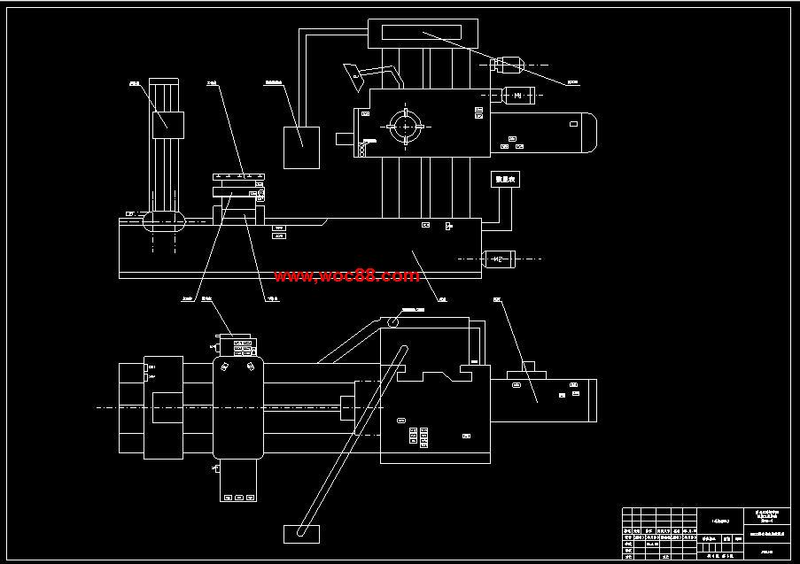 (独家原创)T6113机床控制系统的设计改造PLC设计(全套CAD图纸完整版)CAD截图01