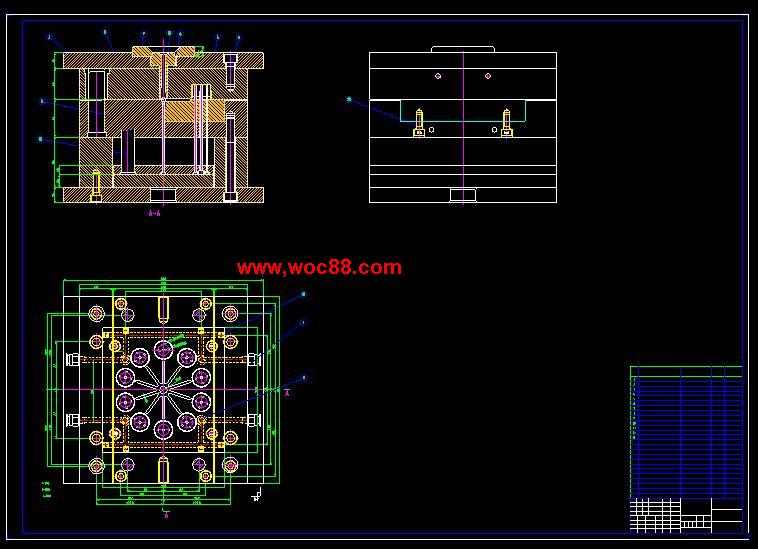 (独家原创)化装品盖设计(全套CAD图纸完整版)CAD截图01